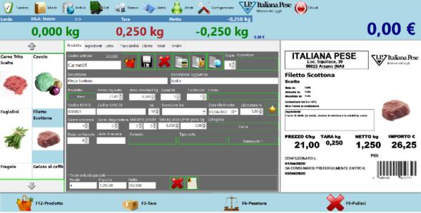 software peso prezzo tracciabilità dei prodotti alimentari
